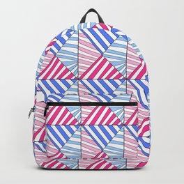 Symetric triangle 1 -vichy, gingham,strip,triangle,geometric, sober,tartan,mandala Backpack