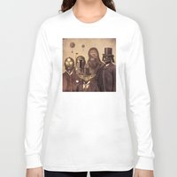 victorian Long Sleeve T-shirts featuring Victorian Wars  - square format by Terry Fan