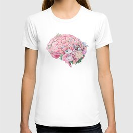 Floral Anatomy Brain T-Shirt