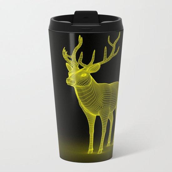 numeric deer 4 Metal Travel Mug