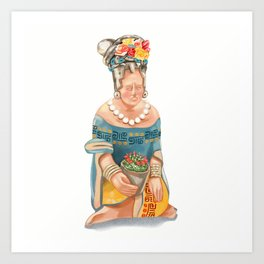 Mesoamerican Seated Woman Art Print