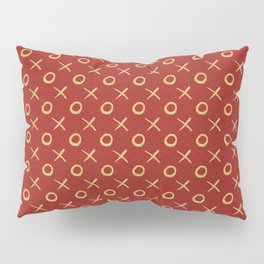 X's & O's - gold on bright red Pillow Sham