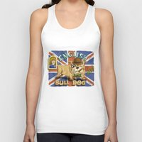 english bulldog Tank Tops featuring English Bulldog by Brian Raszka Art & Illustration