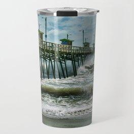Surge Under The Pier Travel Mug