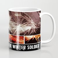 winter soldier Mugs featuring Captain America: The Winter Soldier by Joshua Rayfield [Spyder Acidburn]