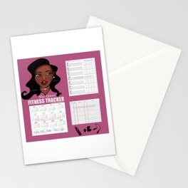 2020 Fitness & Wellbeing Tracker - Slay Queen Stationery Cards