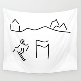 alpine skier Wall Tapestry