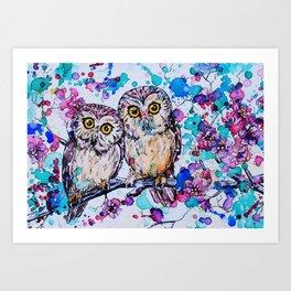 Little Owls version 2 Art Print