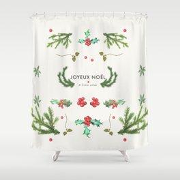 Joyeux Noël Shower Curtain