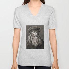 Leonardo da Vinci Unisex V-Neck