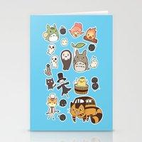 ghibli Stationery Cards featuring studio ghibli  by skymerol