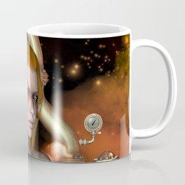 Steampunk, Beautiful steampunk women Coffee Mug