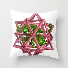 color me m.c. cubed! Throw Pillow