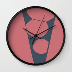 Blue and pink abstract Wall Clock