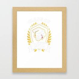 Class-of-2018---Class-of-2018-Graduation-T-Shirt Framed Art Print