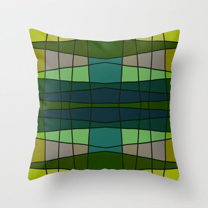 Green Pattern Turtle Throw Pillow