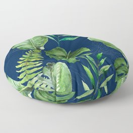 Tropical Leaves Banana Palm Tree Floor Pillow