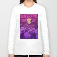 skeletor Long Sleeve T-shirts featuring Masters of the Universe - Skeletor by Mike Wrobel