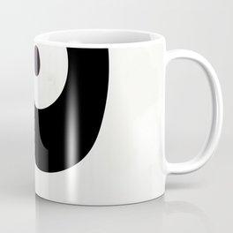 shapes black brush stroke white abstract minimal art Coffee Mug