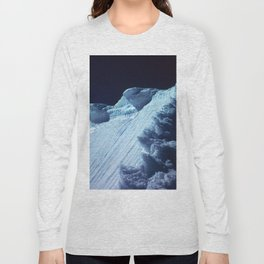 NATURE'S WONDER #2 - Glacier in the dark #art #society6 Long Sleeve T-shirt