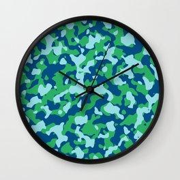 Snorkel Island Camouflage Wall Clock