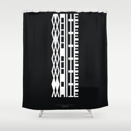 The DNA of colours - White Shower Curtain