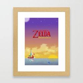 Pixelized : Wind Waker  Framed Art Print