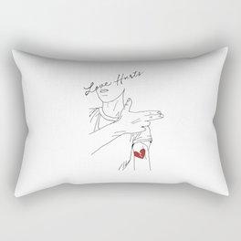 LOVE hurts Rectangular Pillow