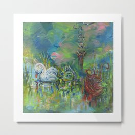 Spilling my Guts in the Fairytale Sea Metal Print