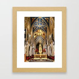 Gold and Shining Armour Framed Art Print