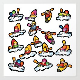 Paddlers Art Print