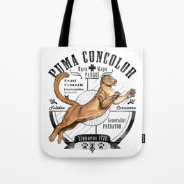 Old School Puma Facts Tote Bag