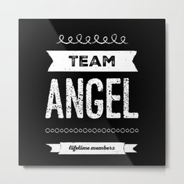 Personalized Name Angel - Birthday Gift Metal Print
