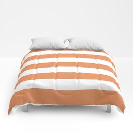 Big Foot Feet - solid color - white stripes pattern Comforters