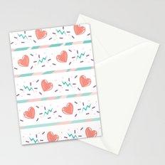 minty heart lightning Stationery Cards