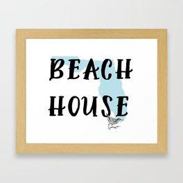 Beach House Decor Framed Art Print
