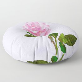 SINGLE PINK ROSE FOR LOVE Floor Pillow
