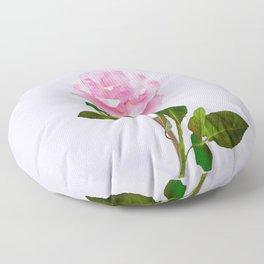 SINGLE PINK ROSE FOR LOVE Floor Pillow