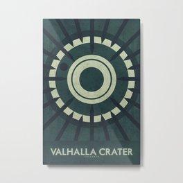 Callisto - Valhalla Crater  Metal Print