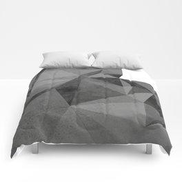 Concrete Polygonal texture Comforters