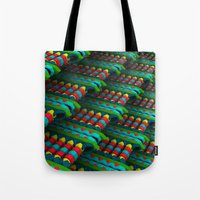 cartoons Tote Bags featuring Isn't that ideal by Obvious Warrior