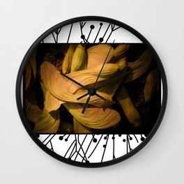 Maple Seeds Wall Clock