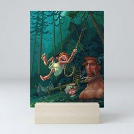 River Rope Swing Mini Art Print