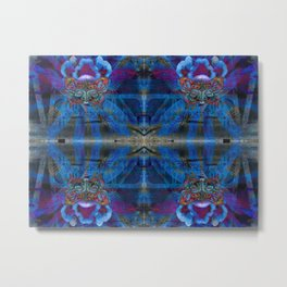 Butterfly mask geometry IV Metal Print