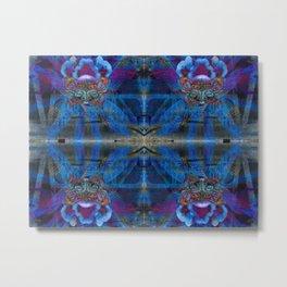 Butterfly mask geometry IV Metal Print