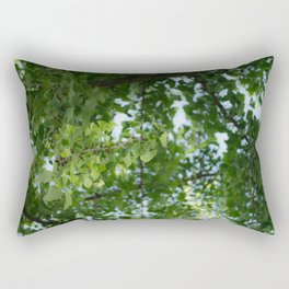 Ginkgo biloba tree in the city Rectangular Pillow