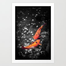 Lucky Koi Fountain Art Print
