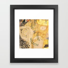 Water Serpents - Gustav Klimt Framed Art Print