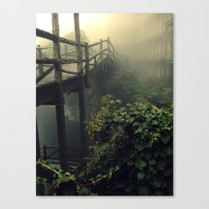 Sticks, Leaves, and Mortar Canvas Print