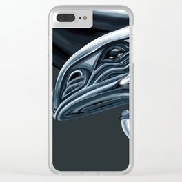 Blue Eyes White Dragon Clear iPhone Case